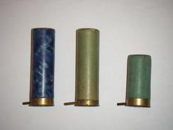 3 Cartouches Dites à Broche MANUFRANCE TARDY Type LEFAUCHEUX Calibre 16 Fusil Chasse Manufactures SAINT ETIENNE - Armes Neutralisées