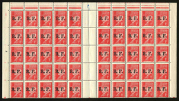 FRANCE - LIBERATION LYON - YT 8 ** - BLOC DE 50 TIMBRES NEUFS ** - Liberation