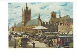 40039  Ieper - Gezicht Op De Grote Markt Te Ieper - Leon Hoogewys 1914 - Ieper