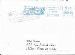 EMA - 2008 - ANGOULEME / CITE DES FESTIVALS   - HD 102899 -  BLEU  - - Marcofilia (sobres)
