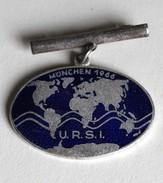 Broche URSI München 1966 Assemblée Générale Union Radio Scientifique Internationale Radiotélégraphie - Radio & TSF