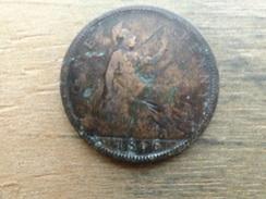 Grande-bretagne  1  Penny  1866  Km 749 - 1662-1816 : Anciennes Frappes Fin XVII° - Début XIX° S.