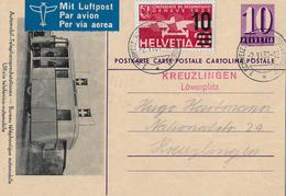 1937 SCHWEIZ.AUTOMOBIL-POSTBUREAU, Roter Stempel KREUZLINGEN Löwenplatz  ►SBK-F21◄ - Poste Aérienne