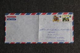Lettre Des SEYCHELLES à TOULON ( Poste Aérienne). - Seychelles (1976-...)