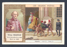 Chromo - Bon Point - Farine Lactée Salvy - Les Grands Poètes - William Shakspeare -Othello - Old Paper