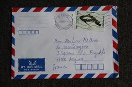 Lettre Du CAMBODGE à ANGERS ( Poste Aérienne) - Cambodia