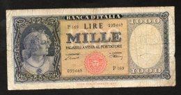 Banconota Italia 1.000 Lire Medusa 10/2/1948  MB/BB - 1000 Lire