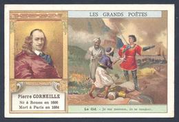 Chromo - Bon Point - Farine Lactée Salvy - Les Grands Poètes - Pierre Corneille - Le Cid - Old Paper