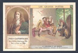 Chromo - Bon Point - Farine Lactée Salvy - Les Grands Poètes - Jean De La Fontaine - Le Laboureur Et Ses Enfants - Old Paper