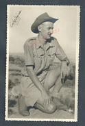 MILITARIA PHOTO MILITAIRE DE 13X8,5  SOLDAT ? INDOCHINE OU INDO CHINE  NON ECRITE : - War, Military