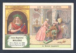 Chromo - Bon Point - Farine Lactée Salvy - Les Grands Poètes - Jean-Baptiste Poquelin Dit Molière - Le Malade Imaginaire - Old Paper