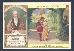 Chromo - Bon Point - Farine Lactée Salvy - Les Grands Poètes - Johann-Wolfgang Goethe - Faust - Old Paper