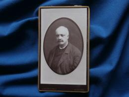 Photo CDV  Yrondy à Auxerre  Portrait Homme Chauve - Circa 1885 - L302B - Photos