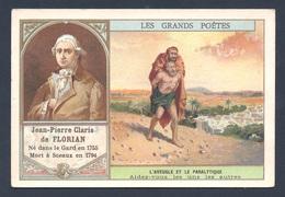 Chromo - Bon Point - Farine Lactée Salvy - Les Grands Poètes - Jean-Pierre Claris De Florian - L'aveugle Et Le Paralytiq - Old Paper