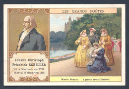 Chromo - Bon Point - Farine Lactée Salvy - Les Grands Poètes - Johann Christoph Friedrick Schiller - Marie Stuart - Old Paper