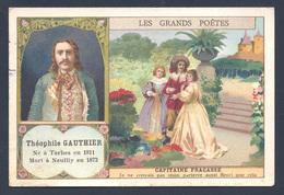 Chromo - Bon Point - Farine Lactée Salvy - Les Grands Poètes - Théophile Gauthier - Capitaine Fracasse - Old Paper