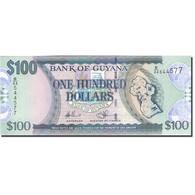 Guyana, 100 Dollars, 1989-1992, Undated (1989), KM:28, NEUF - Guyana