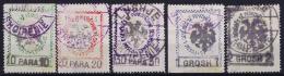 Albania: Mi Nr 24 - 28 Gestempelt/used/obl.  Signed/ Signé/signiert/ Approvato - Albanie