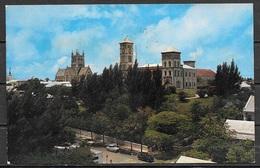 1961 Bermuda, Hamilton, Bermuda Cathedral, Mailed To USA - Postcards