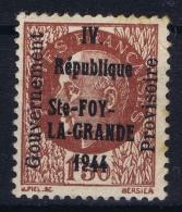 France Liberation: Sainte-Foy-la-Grande Neuf Sans Charniere /MNH/**/postfrisch Spots In Gum - Libération