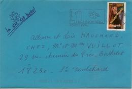 Timbre Seul Sur Lettre N°3565 - Marcophilie (Lettres)
