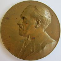 M05234 PAUL HUYBRECHTS - 1861 - 1917 - Son Buste (124g) In Memorian... Au Revers - Professionals / Firms