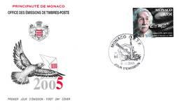 Albert EINSTEIN - FDC  MONACO De 2005