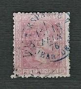 SPAGNA 1875 - Alfonso XII - 25 C. Rosa - Yt:ES 157 - 1875-1882 Regno: Alfonso XII