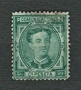SPAGNA 1876 - Alfonso XII - 50 C. Verde - Yt:ES 168 - 1875-1882 Regno: Alfonso XII