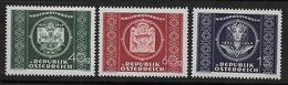 AUTRICHE -  Série  779 / 781 **  - Cote : 24 € - 1945-60 Nuevos & Fijasellos