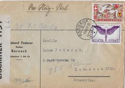 1941 FLUGPOSTBRIEF (Zensurbrief) Basel-New York   ►SBK-F12z, B13◄ - Luftpost