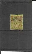 Obock_ 20c Brique/vert  Surcharge Double_ N°16A (1892 )