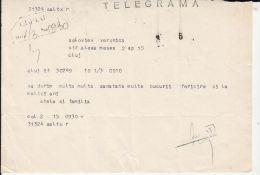 5170FM- COPY OF TELEGRAMME SENT LOCO IN CLUJ NAPOCA, 1981, ROMANIA - Télégraphes