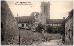 95 CHARS - Eglise Et Rue De Saint-Cyr  (Recto/Verso) - Chars
