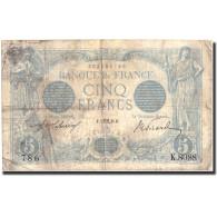 France, 5 Francs, 5 F 1912-1917 ''Bleu'', 1915, 1915-10-02, KM:70, TB - 1871-1952 Circulated During XXth