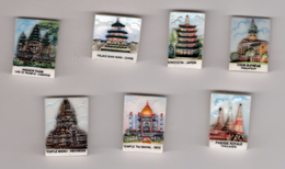 SERIE Complète 7 Fèves Brillantes LES MONUMENTS D'ASIE Pagode, Taj Mahal,angkor, Palais NORDIA 1995 - Countries
