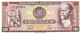 PERU 500 SOLES DE ORO 1974 P-104c UNC RARE GRADE  [PE104c] - Pérou