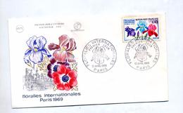 Lettre Fdc 1969 Paris Floralie - FDC