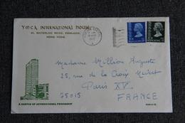 Lettre Envoyée  De HONG KONG à PARIS - Hong Kong (...-1997)