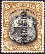 NORTH BORNEO 1924 SG #D18 6c MNG POSTAGE DUE Perf.14½ CV £10 - North Borneo (...-1963)