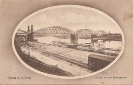 Allemagne : RIESA  Partie An Der Elbebrücke    Réf 2839 - Riesa