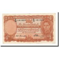 Australie, 10 Shillings, 1939-52, KM:25d, 1952, TB+ - Emisiones Gubernamentales Pre-decimales 1913-1965