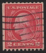 1916, Us 2c, Used, Geroge Washington, Sc 450 - Vereinigte Staaten