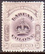 NORTH BORNEO LABUAN 1902 SG #127 50c MH Perf.14 CV £11 - North Borneo (...-1963)