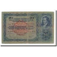 Suisse, 20 Franken, 1929-52, KM:39l, 1942-12-04, B - Suiza