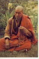BHUTAN - RELIGION  A Lama In Deep Prayer,   Nice Stamp - Buddhism