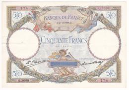 FRANCE : BILLET 50 FRANCS L.O.MERSON Du 21-2-1929 - 1 épinglage, Plis, Petite Fente 1mm, Non Aplati, (2 Scan) 1 - 50 F 1927-1934 ''Luc Olivier Merson''
