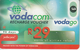 SOUTH AFRICA - Vodago, Vodacom Recharge Card R29, Exp.date 12/02/08, Used