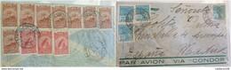 O) 1934 BRAZIL, ZEPPELIN SANTOS DUMONT-EIFFEL TOWER, JAHU-RIBEIRO DE BARROS, MERCURY GOD, 1000 REIS, FROM PORTO ALEGRE T - Brazil