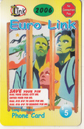 CANADA - Euro Link Prepaid Card $5, Used